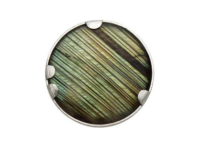 stripes of a new kind - labradorite 'tribal' ring