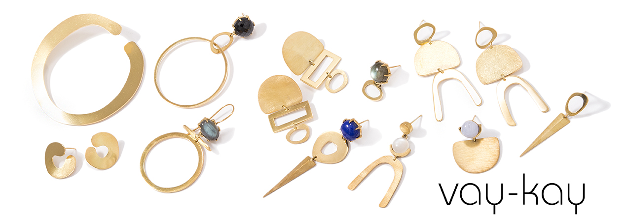 pic of collection of various earrings from new KG collection